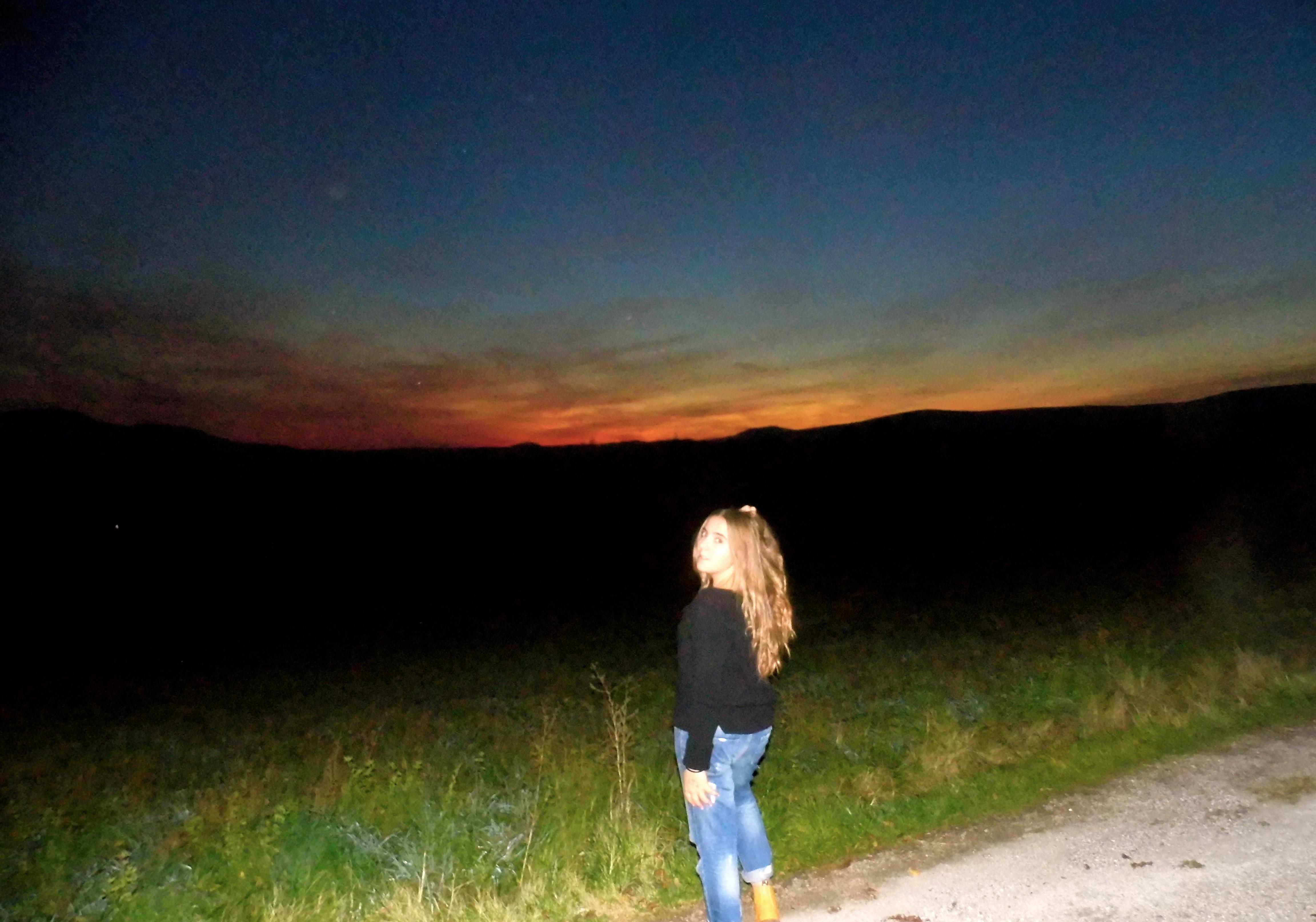 coucher de soleil sur le pays de forcalquier
