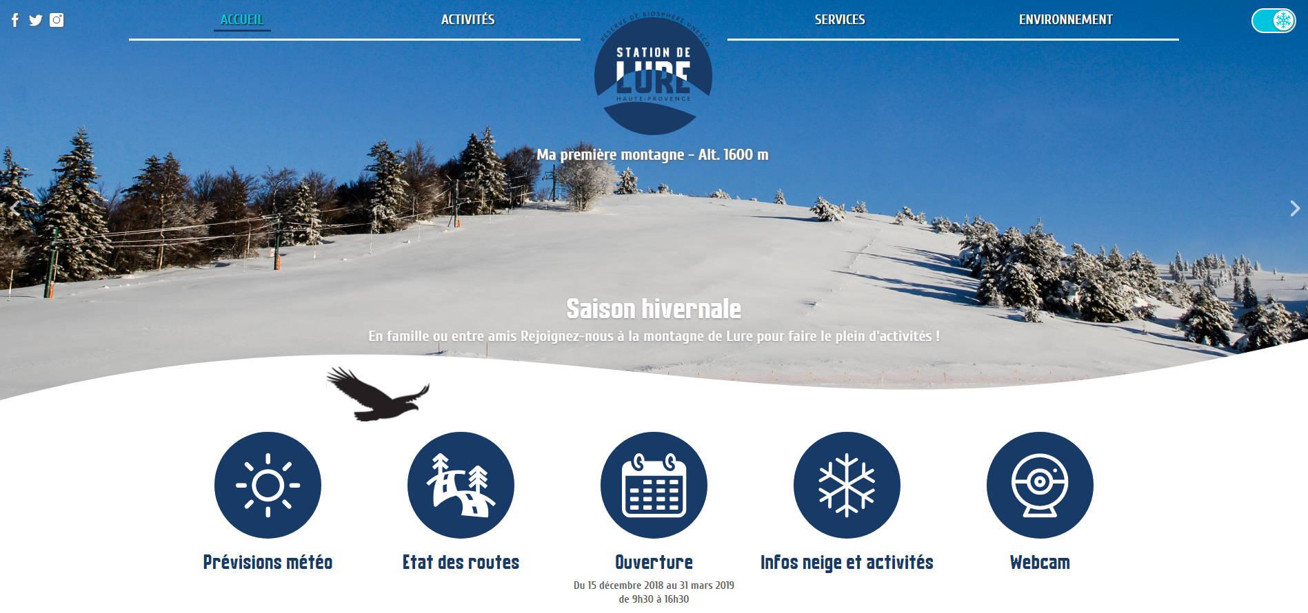 Site internet Station de Lure