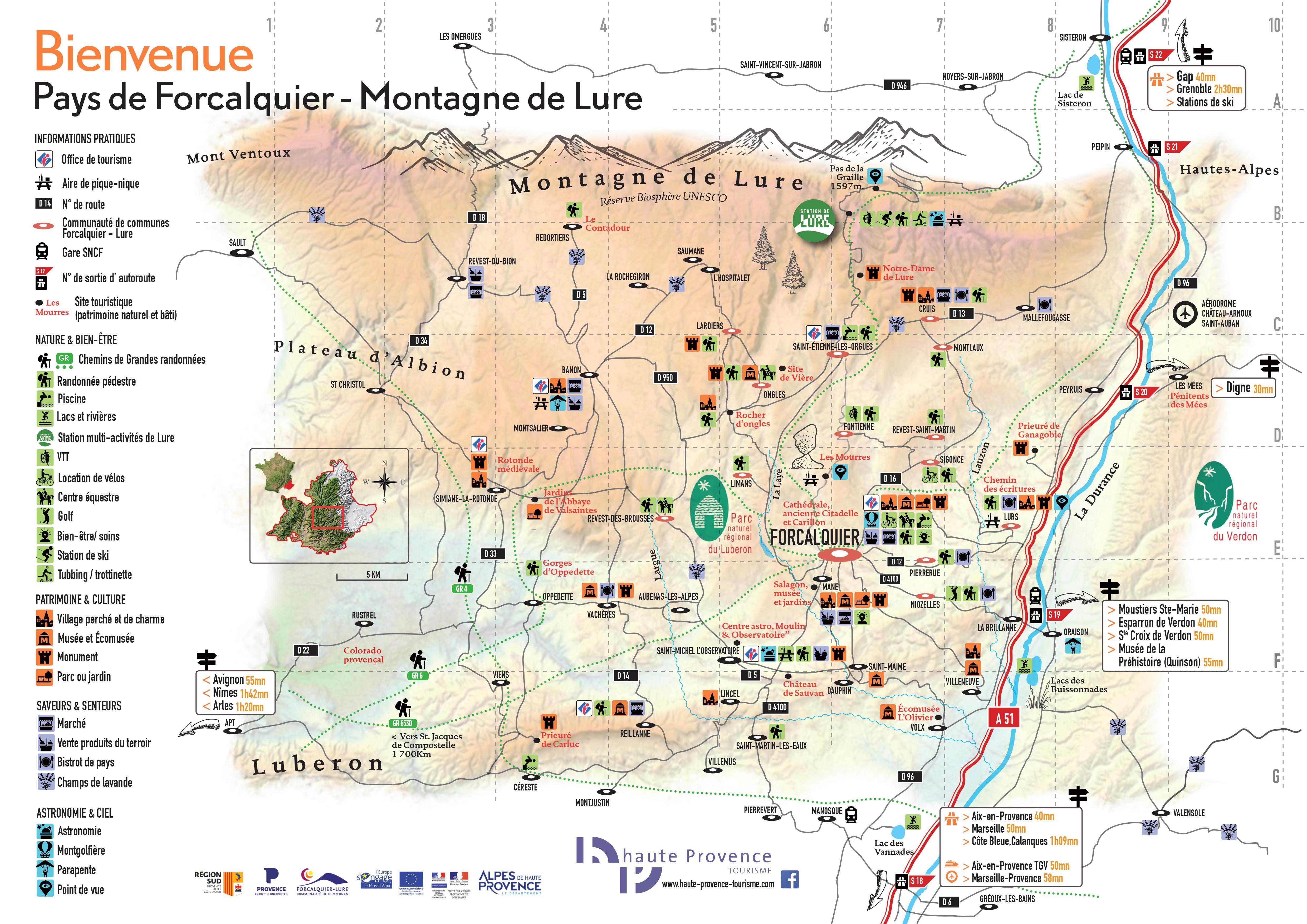carte touristique r