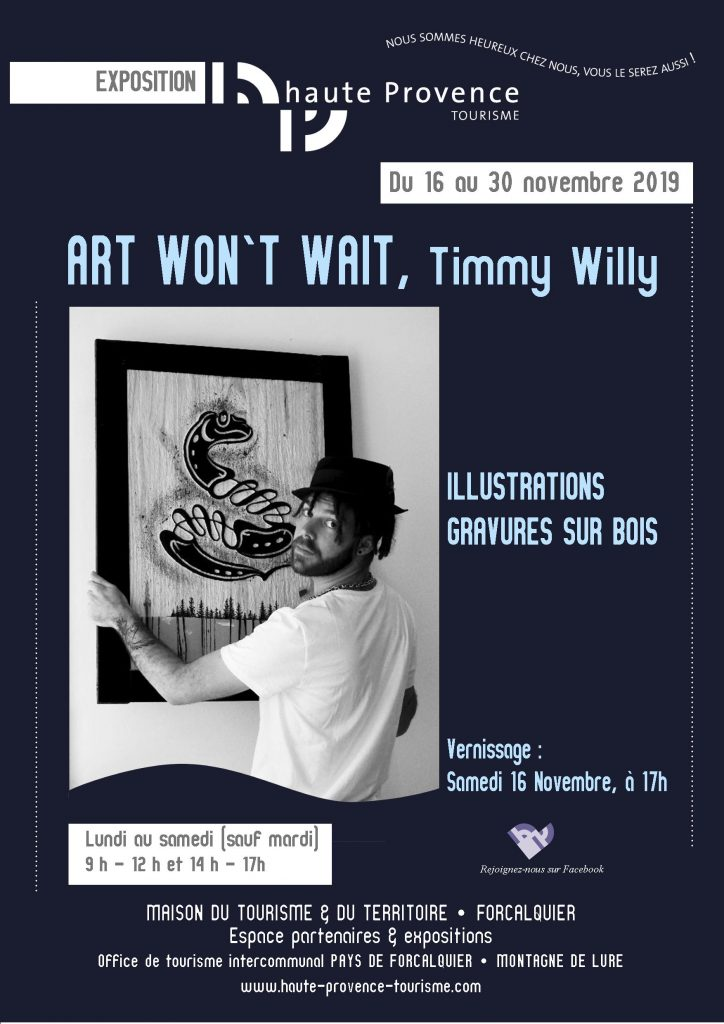 Affiche A3 timmy willy bleue